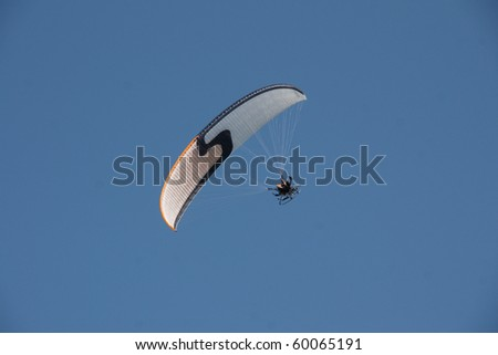 angled paraglider on a sunny day #2 - stock photo