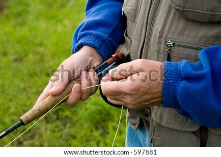 Angler, detail - stock photo