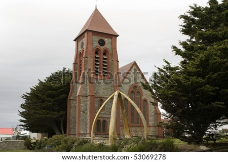 Anglical cathedral in Port Stanley, Falkland Islands
