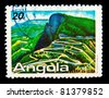 ANGOLA - CIRCA 1990:A stamp printed by Angola, shows  Serra da Leba mountains, circa 1990. - stock photo