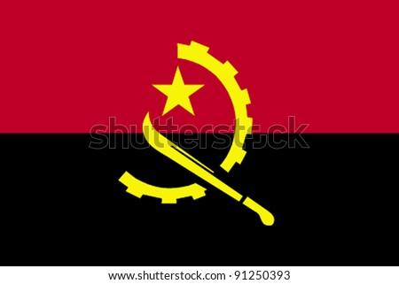 Angola flag - stock photo