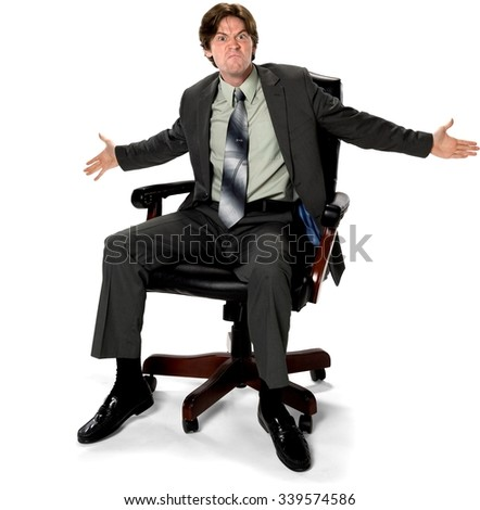 angry caucasian man with short dark brown hair in business formal outfit arguing with person - Office Chair For Short Person