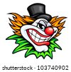 Angry circus clown or joker in cartoon style. Vector version also available in gallery - stock photo