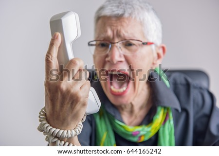 Angry Customer Stock Images, Royalty-Free Images & Vectors ...  Upset Person On Phone