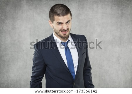 Angry face - stock photo