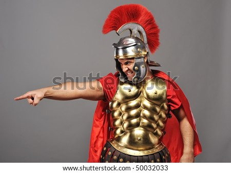 Angry legionary soldier