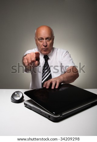 Angry official - stock photo