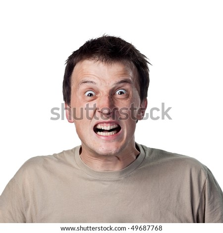 Angry or upset guy - stock photo