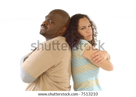 Angry with each other - stock photo