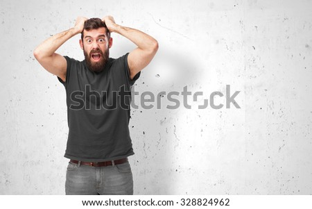 angry young man shouting