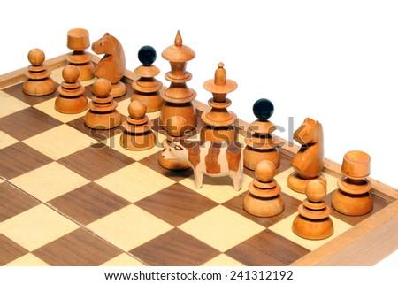 Animal chess - stock photo