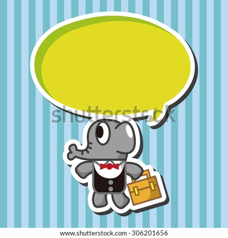 animal elephant worker cartoon, cartoon speech icon