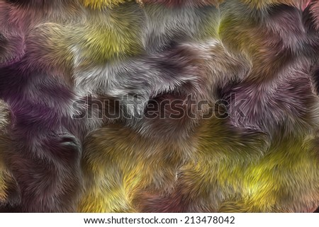 animal fur - stock photo