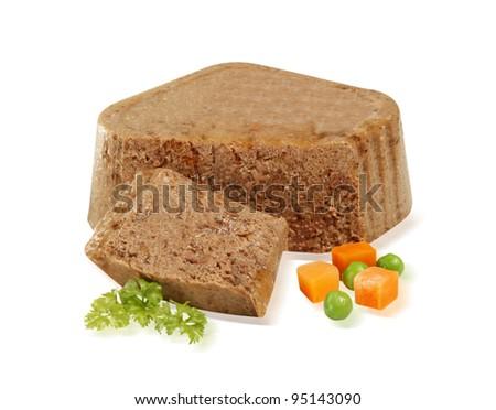animal, pet bio pate food - stock photo