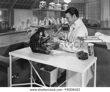ANIMAL TESTING - stock photo