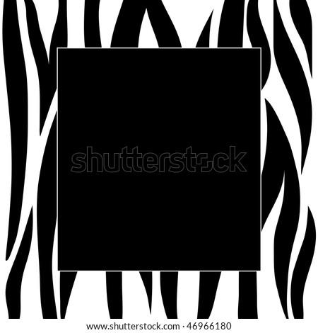 Animal zebra print frame - stock photo