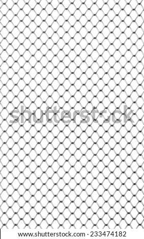 Animals or people to prevent the entry of metal wire mesh pounds. Land, windows, doors protection, or for making fence, cages. - stock photo