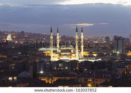 Ankara, Turkey - Kocatepe mosque - stock photo