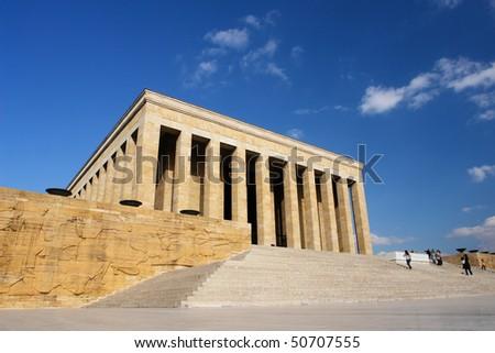 Ankara, Turkey - Mausoleum of Ataturk - stock photo