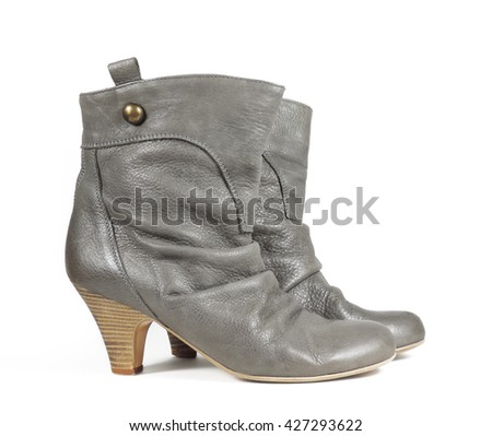 Ankle boot shoes, isolated on white