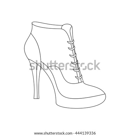 Ankle boots shoes. Shoes illustration. Boots icon. illustration