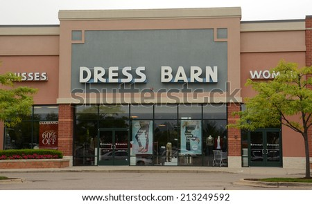 ANN ARBOR, MI - AUGUST 24: Dress Barn, whose east Ann Arbor store is shown on August 24, 2014, recently opened a new store as part of Ascena's Retail group's expansion.  - stock photo