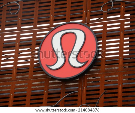 ANN ARBOR, MI - AUGUST 24: Lululemon, whose Ann Arbor store logo is shown on August 24, 2014, has over 260 stores. - stock photo