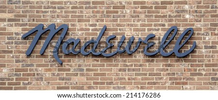 ANN ARBOR, MI - AUGUST 24: Madewell, a J. Crew Group company, whose Ann Arbor store logo is shown on August 24, 2014, has 76 stores. - stock photo