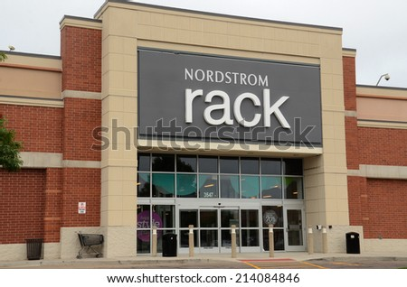 ANN ARBOR, MI - AUGUST 24: Nordstrom Rack, whose Ann Arbor store is shown on August 24, 2014, is one of 151 Nordstrom Rack stores in the United States.  - stock photo