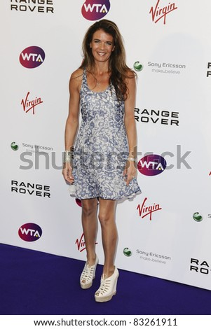 Annabel Croft arriving for the Pre Wimbledon Party, Kensington Roof Gardens, London. 16/07/2011  Picture by: Steve Vas / Featureflash