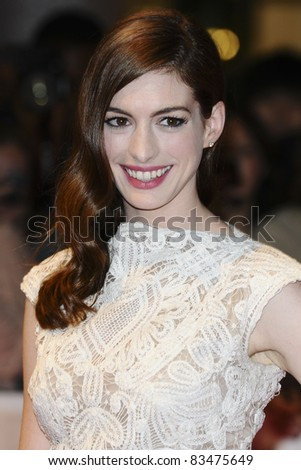 Anne Hathaway arriving for the European Premiere of 'One Day' at Westfield, west London. 23/08/2011  Picture by: Steve Vas / Featureflash - stock photo
