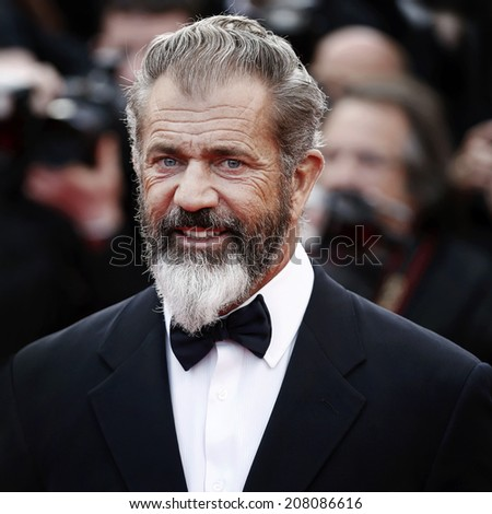 ANNES, FRANCE - MAY 18: Mel Gibson attends 'The Expendables 3' Premiere during the 67th Cannes Film Festival on May 18, 2014 in Cannes, France. - stock photo