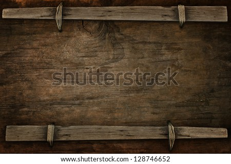 announcement wood with free space  for multipurpose - stock photo