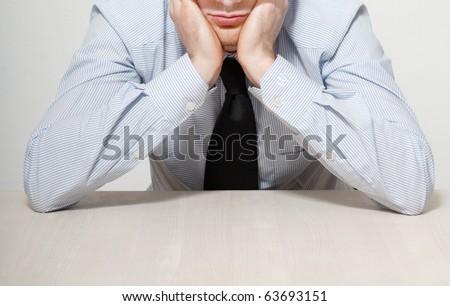 Annoyed businessman - stock photo