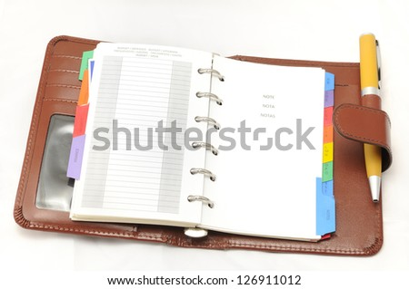 annual agenda to take complete control of our daily lives and future projects. - stock photo