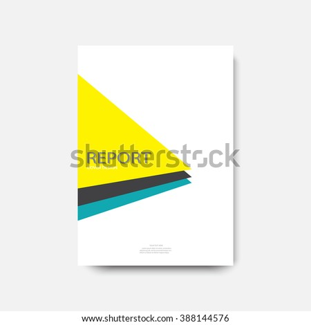 Annual report cover design, modern abstract brochure, material design, A4, vector illustration - stock photo