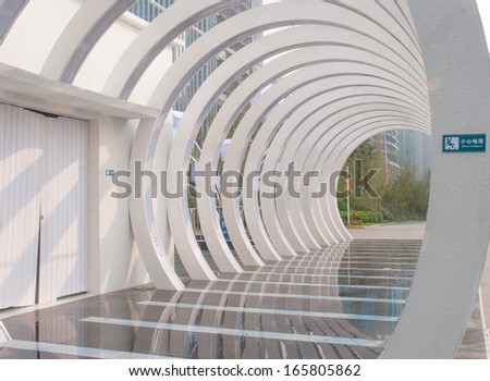 Annular corridor - stock photo