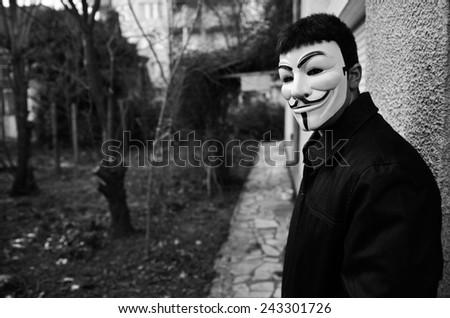 anonymous men - stock photo