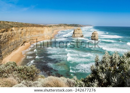 Another side of 12 Apostles: The Great Ocean Road - stock photo