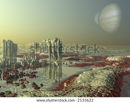 Another world. Outerspace - stock photo