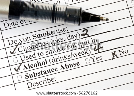 Answer the smoking question in a medical questionnaire