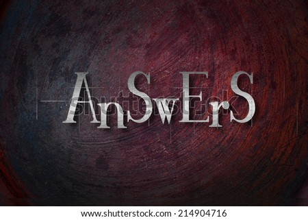 Answers Concept text on background