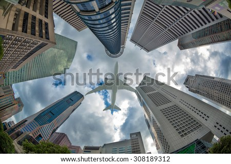 Ant view for building in Singapore  - stock photo