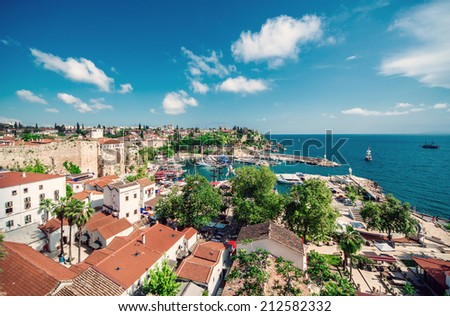 Antalya cityscape. Turkey - stock photo