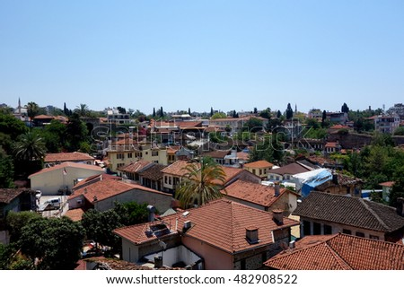 Antalya old town, view from above