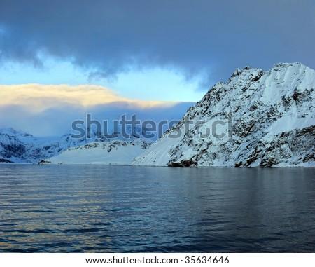 antarctic colour islands - stock photo