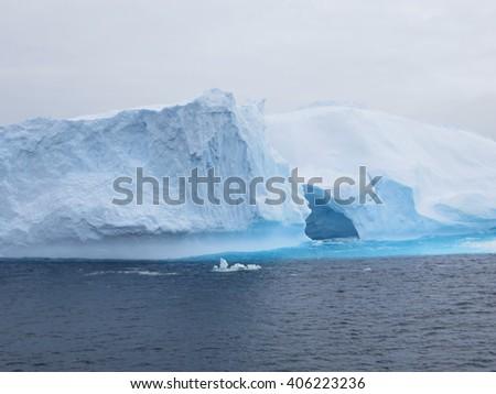 Antarctic Iceberg Beauty - stock photo