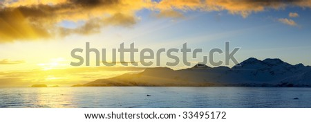 Antarctic islands - stock photo