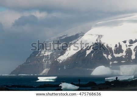 Antarctic Landscape: Brown Bluff, Antarctica