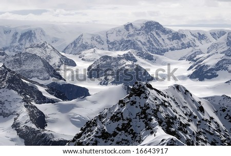 Antarctic mountains - stock photo